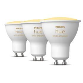 Žárovka LED Philips Hue Bluetooth, 4,3W, GU10, White Ambiance, 3ks (8719514342804)