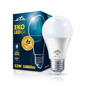 Žárovka LED ETA EKO LEDka klasik 12W, E27, studená bílá (A60W12CW)