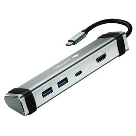 Dokovací stanice Canyon DS-3 USB-C/HDMI, 2x USB 3.0, USB-C PD 60W (CNS-TDS03DG) stříbrná