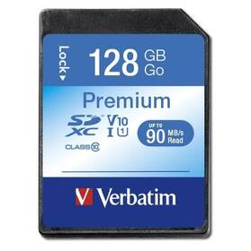 Paměťová karta Verbatim Premium SDXC 128GB UHS-I V10 U1 (90R/10W) (44025)