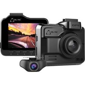 Autokamera CEL-TEC K4 Dual GPS šedá