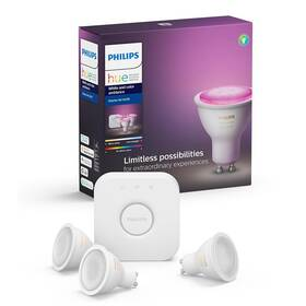 Startovací sada Philips Hue Bluetooth 5,7W, GU10, White and Color Ambiance + Bridge (8718699629274)