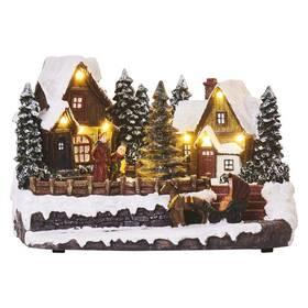 LED dekorace EMOS vánoční vesnička, 15 cm, 3x AA, vnitřní, teplá bílá (DCLW15)