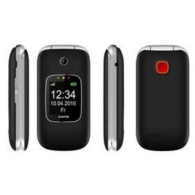 Mobilní telefon Aligator V650 Senior (AV650BS) černý/stříbrný