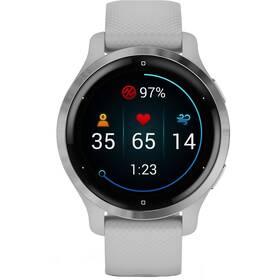 GPS hodinky Garmin Venu2S Silver/Gray Band (010-02429-12)