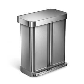 Odpadkový koš na tříděný odpad Simplehuman 58 l (CW2025) stříbrný