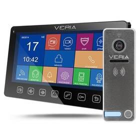 Dveřní videotelefon VERIA set videotelefonu VERIA 7076C + VERIA 230 (S-7076C-230) černý