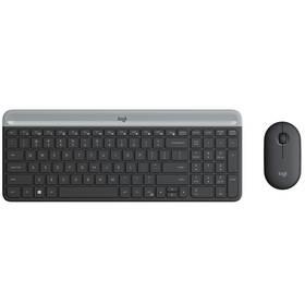 Klávesnice s myší Logitech Wireless Combo Slim MK470 (920-009260) šedá