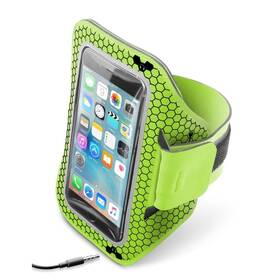"""Pouzdro na mobil sportovní CellularLine Armband running, 5,2"""" (ARMBANDRUN52L) zelené"""