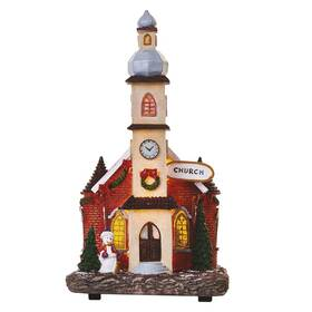LED dekorace EMOS vánoční kostel, 17,5 cm, 3x AA, vnitřní, teplá bílá (DCLW11)