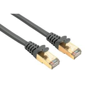 Kabel Hama síťový (RJ45), 3m, stíněný (41895) šedý