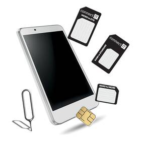 Adaptér Connect IT nano/ micro/ standard SIM (CFF-0050-BK) černé