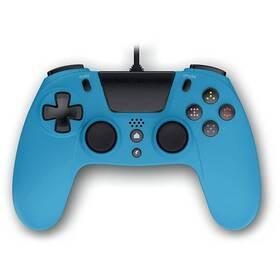 Gamepad Gioteck VX-4 s audio konektorem, pro PS4, PC (VX4PS4-42-MU) modrý