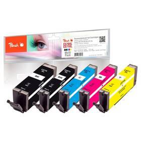 Inkoustová náplň Peach Canon PGI-570XL/CLI-571XL, 975 stran, kompatibilní, CMYK (319855)