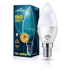 Žárovka LED ETA EKO LEDka svíčka 7W, E14, neutrální bílá (C37W7NW)