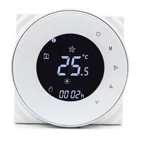 Termostat iQtech SmartLife GALW-W, WiFi termostat pro kotle s potenciálovým spínáním (IQTGALW-W) bílý
