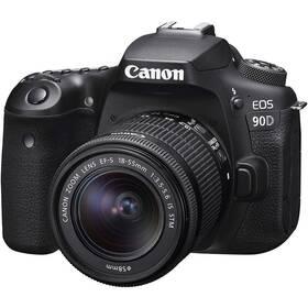 Digitální fotoaparát Canon EOS 90D + 18-55 IS STM černý