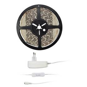 LED pásek Solight 4,8 W/m, studená bílá 6000K, adaptér s vypínačem (WM50-65T)
