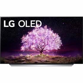 Televize LG OLED48C12 stříbrná/bílá