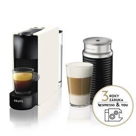 Espresso Krups Nespresso Essenza mini XN111110 & Aeroccino 3 bílé