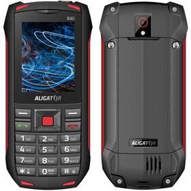 Mobilní telefon Aligator R40 eXtremo (AR40BR) černý/červený