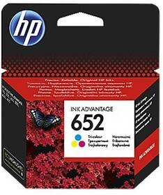 Inkoustová náplň HP 652, 200 stran, CMY (F6V24AE)