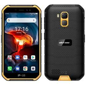 Mobilní telefon UleFone Armor X7 PRO - ZÁNOVNÍ - 12 měsíců záruka černý/oranžový