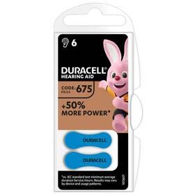 Baterie do naslouchadel Duracell Hearing Aid 675, PR44, 1.45V, blistr 6ks