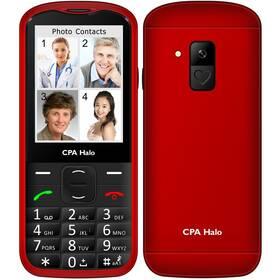 Mobilní telefon CPA Halo 18 Senior s nabíjecím stojánkem (TELMY1018RE) červený