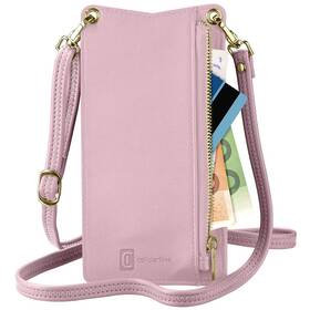 Pouzdro na mobil CellularLine Mini Bag na krk (MINIBAGP) růžové