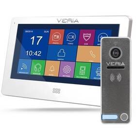 Dveřní videotelefon VERIA set videotelefonu VERIA 7077B + VERIA 230 (S-7077B-230) bílý