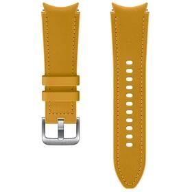 Řemínek Samsung Galaxy Watch4 Classic 42mm, hybridní kožený (20 mm, S/M) (ET-SHR88SYEGEU) hnědý