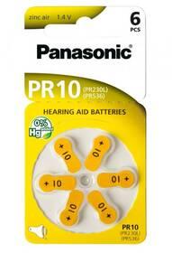 Baterie do naslouchadel Panasonic PR10, blistr 6ks (PR-230(10)/6LB)