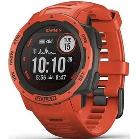 GPS hodinky Garmin Instinct Solar Optic (010-02293-20) červená