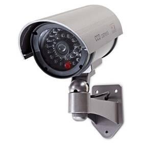 Maketa zabezpečovací kamery Nedis s infračervenou LED, bullet, IP44, venkovní (DUMCB40GY)