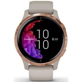 GPS hodinky Garmin Venu RoseGold/Sand (010-02173-23)