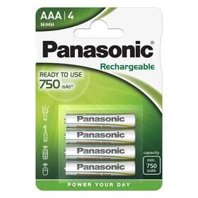 Baterie nabíjecí Panasonic Evolta AAA, 750 mAh, Ni-MH, blistr 4ks (HHR-4MVE/4BP)
