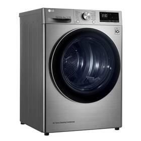 Sušička prádla LG RC91V9EV2Q stříbrná + LG 10 let záruka na motor/kompresor