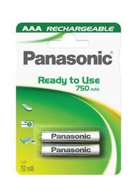 Baterie nabíjecí Panasonic Evolta AAA, HR03, 750mAh, Ni-MH, blistr 2ks (HHR-4MVE/2BP)