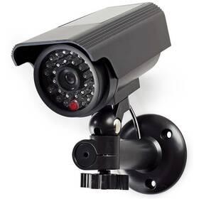 Maketa zabezpečovací kamery Nedis s blikající LED, bullet, IP44, venkovní (DUMCBS10BK)
