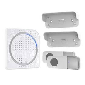 Zvonek bezdrátový Solight 1L67DT 2 tlačítka, do zásuvky, 200m, learning code (1L67DT) bílý