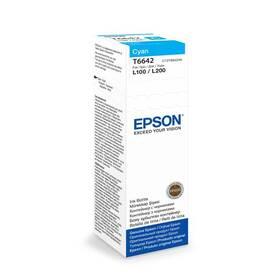Inkoustová náplň Epson T6642, 70ml - originální (C13T66424A10) modrá