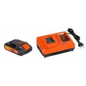Akumulátor POWERPLUS Starter Dual Power POWDP9062 nabíječka 20V/40V + baterie 20V LI-ION 2,0Ah