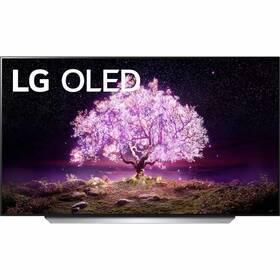 Televize LG OLED77C12 stříbrná/bílá