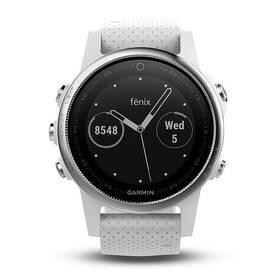 GPS hodinky Garmin Fenix 5S (010-01685-00) stříbrné/bílé
