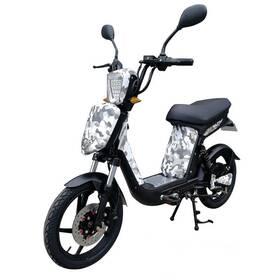 Elektrická motorka RACCEWAY E-BABETA, maskáč černo-bílý