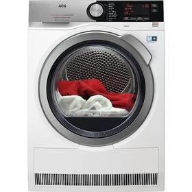 Sušička prádla AEG FiberPro T9DBC68SC 3DScan bílá barva + AEG 10 let záruka na invertor motor