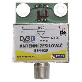 Zesilovač EMOS anténní předzesilovač 25dB VHF/UHF (2507100600)