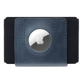 Peněženka FIXED Tiny Wallet pro AirTag z pravé hovězí kůže (FIXWAT-STN2-BL) modrá