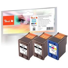 Inkoustová náplň Peach HP PI300-557, No. 21/No. 22, MultiPack Plus, 2x21, 1x18 ml CMYK (319205)